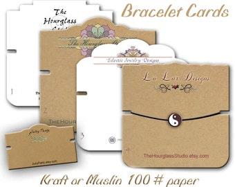Bracelet Cards, Custom Bracelet Cards, Bracelet Display, Jewelry Display, Craft Show Display, Wrist Band Cards
