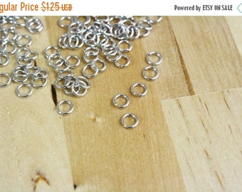 MOVING SALE 50 Antique Silver Plated Jump Rings 6mm 18 Gauge 18g [FND15005][Bin15A]