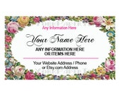 SPECIAL ORDER for Nancie     Printable Business Card, Business Card, Flower Business Card, Modern Business Card, Cards, Victorian Cards