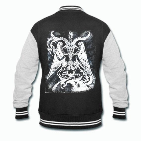 Baphomet occult Gothic varsity jacket