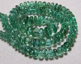 APATITE - So Gorgeous Natural  Green Color - Smooth Polished Rondelle Beads huge size - 5.5 - 8 mm - 16 Inches