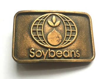 Belt Buckle - Soybeans