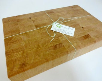 Heavy Duty Chopping Butcher Block Oak Hardwood - OOAK - Sustainable Harvest -  Timber Green Woods