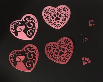 Pawing Around - Dog Paw Die Cuts  - Bazzill Bling