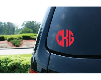 vinyl car monogram, vinyl decal