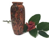 Small Ceramic Vase in Rich Earth Tone of Brown and Green