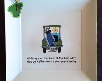Guest Book Alternative Retirement signature platter for retirement retirement gift _ Golf