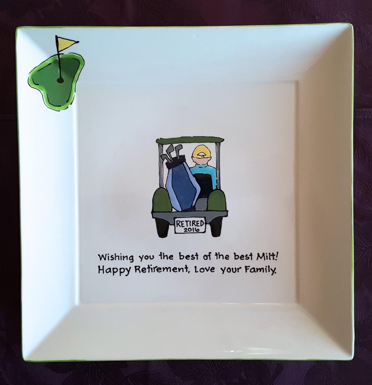 Guest Book Alternative Retirement Signature Platter For