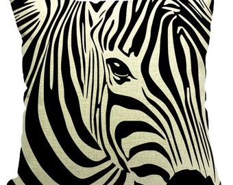 Zebra Printed Square Pillow Case