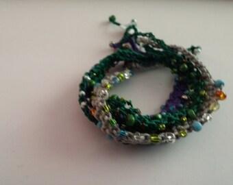 Beaded Crochet Love Knots Bracelet - Group # 08