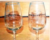 Set of Two Wine Glasses Advertising Richard Childress Vinyards Lexington, NC