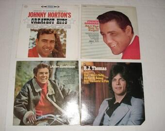 Four LP Albums.  B.J. Thomas.  John Davidson.  Jimmie Rodgers.  Johnny Horton.