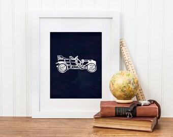 Vintage Car Nursery Printable - Digital Download - Big Boy Room, Car Nursery Art, Boy Car Nursery
