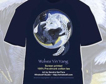Wolf Yin Yang tee