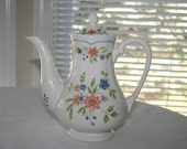 Vintage Country French Ironstone Coffee Pot Teapot Made in Japan