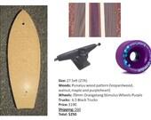 "Custom 27""  ""Punaluu"" Skateboard"