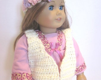 American Girl 18 Inch Doll Cltohes -Retro Vest and Headband