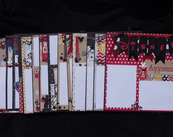 Disney Say Cheese  20~12x12  Premade Scrapbook layouts journal tags just add photos and album