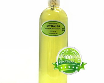 16 oz Soy Bean Oil Pure & Organic Cold Pressed