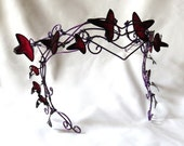 Purple vine circlet with leaves, womens mask, new years masked ball, halloween, accessories, headband, handmade