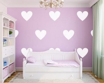 Vinyl Wall Sticker Decal Art - Hearts