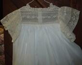 Heirloom dress size 6 white/ecru Hand embroidery Pageant Portrait Communion Confirmation Graduation Wedding Flower Girl