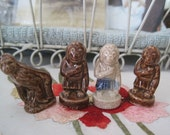 Lot of 4 Wade Gorillas Male and Females Jungle Animal Figures
