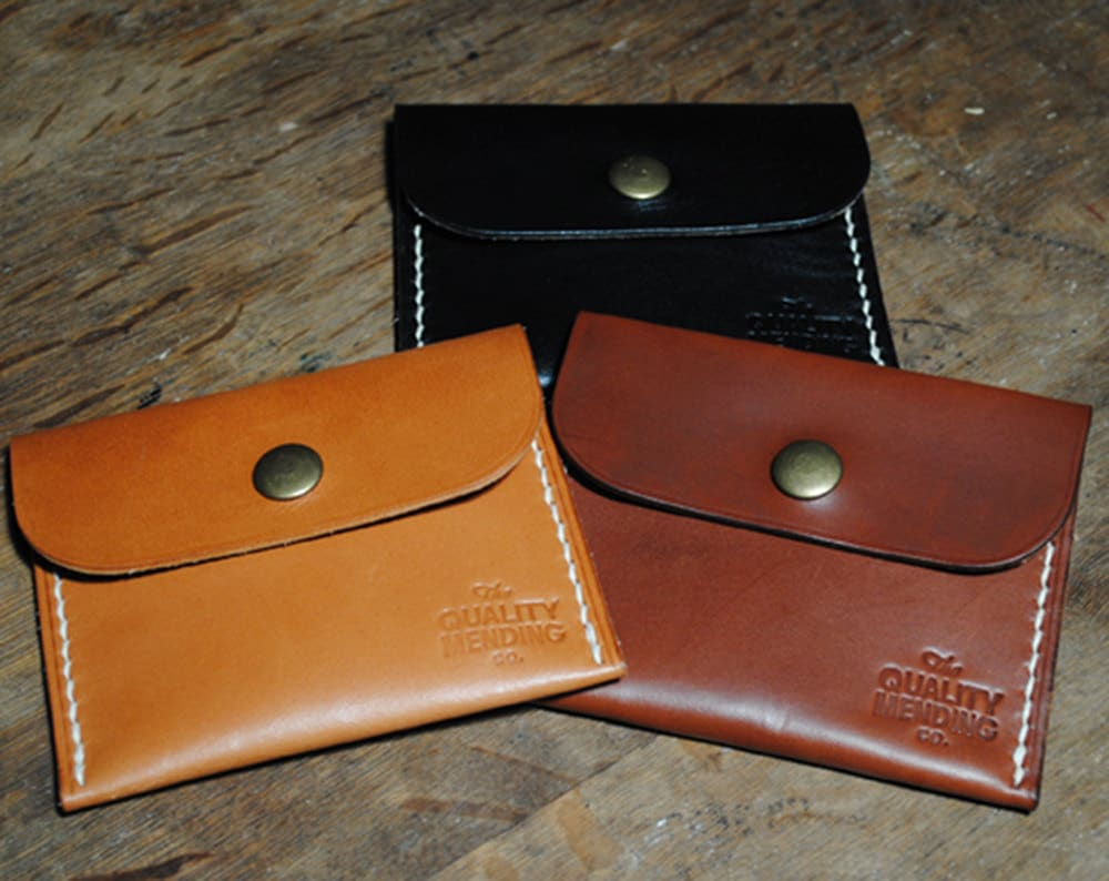 QMC Handmade Leather Mini Wallet - Made in USA