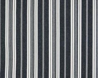 Black & White Striped Fabric Waverly Boot Cut