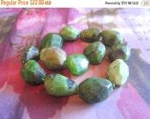 30% OFF SALE Australia Jade Tube Nugget Bead, 20mmx25mm, 13 pcs, Gemstone Beads