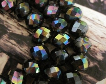 20% OFF ON SALE Smoky Quartz  Fire Polished Faceted Rondelle 10mmx8mm, 10 pcs