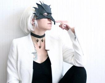 spike leather choker   chain choker   black choker necklace   spike necklace   punk jewelry   leather collar   goth choker   spike pendant