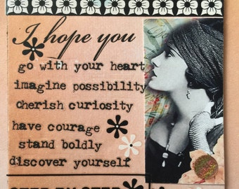 As I See It  Handmade  Mixed Media ACEO Self Help Recovery Gifts Esty Alteredhead On Etsy Artist Trading Cards Emotion Feelings Etsy