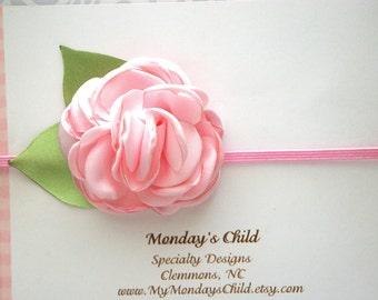 Pink Baby Headband, Pink Headband, Pink Flower Headband, Easter Baby Headband, Baby Headband, Newborn Headband, Toddler Headband, Girls