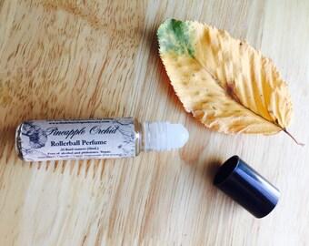 Pineapple Orchid Perfume Oil, vegan perfume, pineapple perfume, orchid perfume, exotic perfume, fruit perfume
