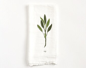 Sage Napkin : Flour Sack Cloth Napkin for Tabletop Place Settings, available in Singles or Sets of 4