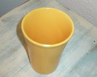 Vintage Homer Laughlin Fiesta Ware Yellow Water Tumbler Beauiful Excellent/Pristine No. 2
