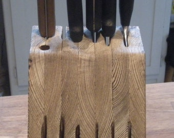 Scorched Earth Knife Block for cool kitchens