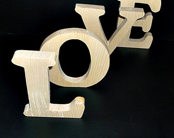 Pkg of 6 Unfinished Wood  Letters Style 1 for Heidi