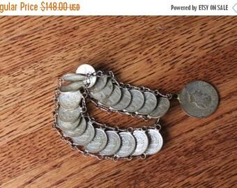 ON SALE Mexican Centavo Bracelet / 40s Bracelet / Coin Bracelet / 1944 Bracelet / Copper or Silver Bracelet