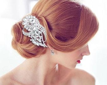 Rhinestone Bridal Comb, Crystal Hair Comb, Rhinestone Hair Comb