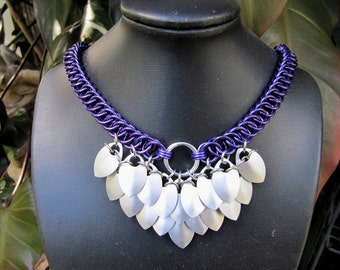 Chainmaille Dragon Scale Necklace
