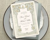Save the Date Cards, Floral Wedding Invitation, Vintage Style Wedding, Save the Dates, Save the Date Postcard, Vintage Wedding Invitation