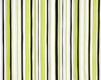 Tempo from Benartex - Full or Half Yard Green, White, and Black Stripe