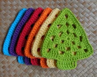 PDF Granny Tree Coaster N Motif Crochet Pattern