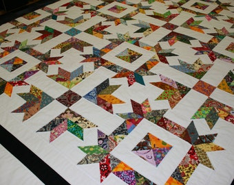 """RELISH - 109""""x 109"""" King or 92""""x 92"""" Queen - Quilt-Addicts Pre-cut Quilt Kit or Finished Quilt"""