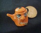 dollhouse porcelain  miniature Halloween Gothic Tea pot China Painted IGMA Janet Uyetake