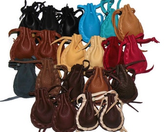 Pocket pouches medicine bag assorted colors drawstring