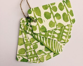 Six Letterpress Printed Gift Tags: Botanical Series