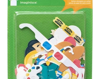 "Imaginisce 75pc FAMILY FUN Die Cuts ""Paper Girls"" Paper Dolls Cardstock Shapes 400657"